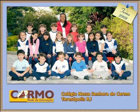 Foto de turma mod. 12 (Capa com logo do colégio)